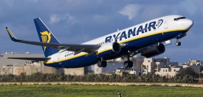 Ryanair: Μείωση των πτήσεων κατά 20% τον Σεπτέμβριο και τον Οκτώβριο