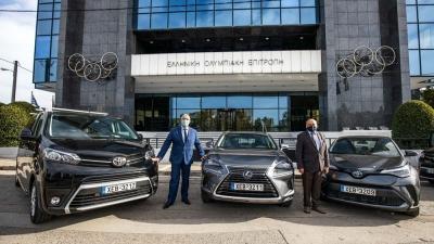 Παράδοση στόλου οχημάτων Toyota στην Ελληνική Ολυμπιακή Επιτροπή