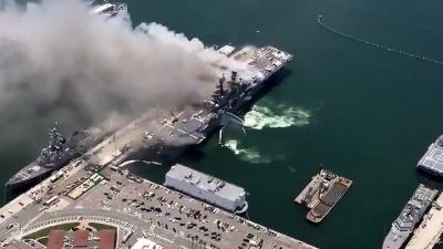 ΗΠΑ: Τουλάχιστον 21 τραυματίες από έκρηξη και πυρκαγιά σε πολεμικό πλοίο