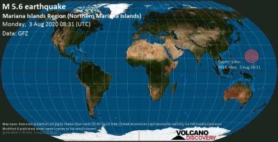 Σεισμός 5,6 Ρίχτερ στις Βόρειες Μαριάνες Νήσους