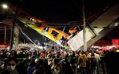 Μεξικό: Νεκροί και τραυματίες μετά την κατάρρευση γέφυρας του μετρό πάνω σε δρόμο