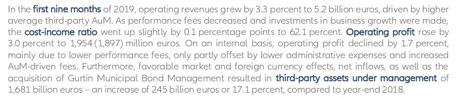 Allianz 3Q2019 earnings release EN 4